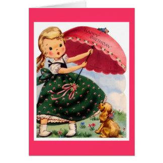 Feliz cumpleaños - niña tarjeta de felicitación