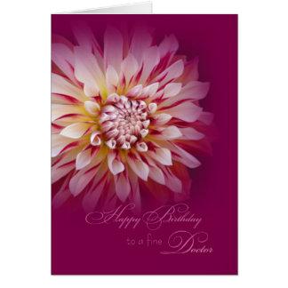 Feliz cumpleaños para el doctor de sexo femenino tarjeta de felicitación
