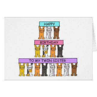 Feliz cumpleaños para hermanar a la hermana tarjeta de felicitación