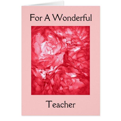 Feliz cumpleaños - para un profesor tarjeta de felicitación
