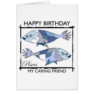 ¡Feliz cumpleaños, Piscis! Tarjeta De Felicitación