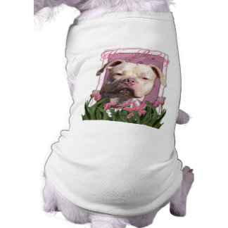 Feliz cumpleaños - Pitbull - chica del jersey Camiseta Sin Mangas Para Perro