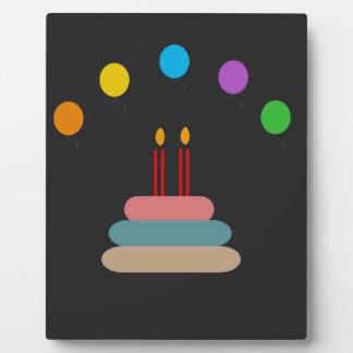 Feliz cumpleaños placa expositora