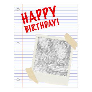 ¡feliz cumpleaños! polaroid postal