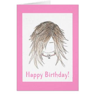 ¡Feliz cumpleaños! Punk de moda del gótico Tarjeta De Felicitación