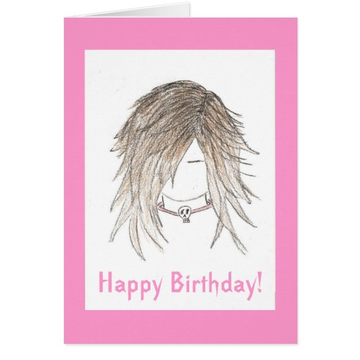 ¡Feliz cumpleaños! Punk de moda del gótico Felicitaciones
