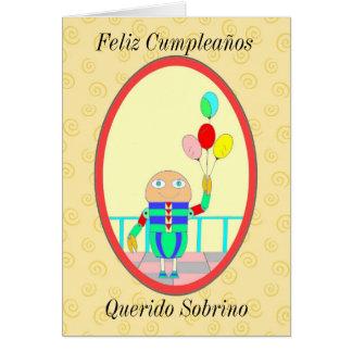 Feliz Cumpleaños Querido Sobrino II Tarjeta De Felicitación