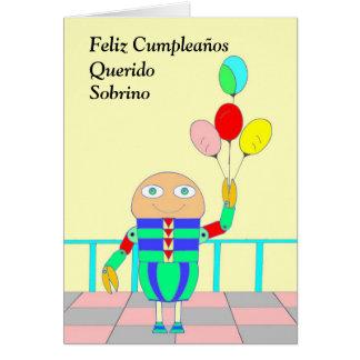 Feliz Cumpleaños Querido Sobrino Tarjeta De Felicitación
