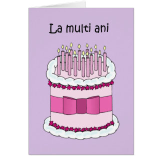 Feliz cumpleaños rumano tarjeta