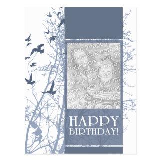 feliz cumpleaños (silhouscreen) postal