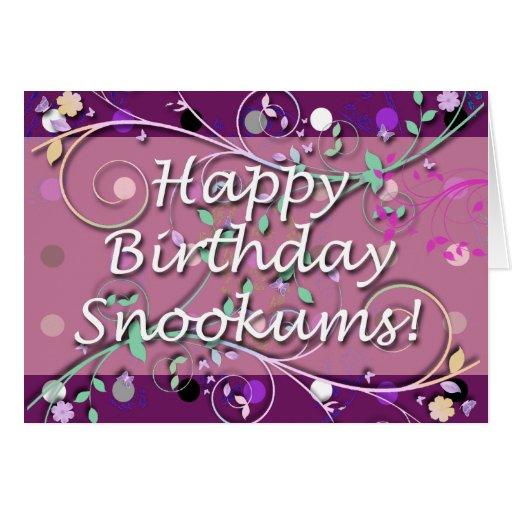 ¡Feliz cumpleaños Snookums! Tarjetón