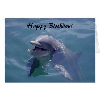 ¡Feliz cumpleaños sonriente del delfín Tarjetón