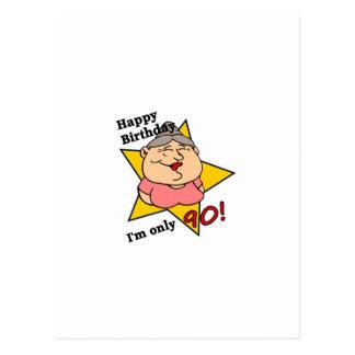 ¡feliz cumpleaños - soy solamente 90 tarjetas postales