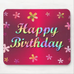 Feliz cumpleaños tapete de ratones