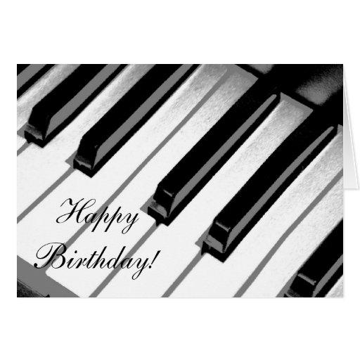 Feliz cumplea os tarjeta de la m sica del piano zazzle - Cumpleanos feliz piano ...