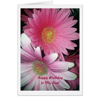 Feliz cumpleaños, tía tarjeta