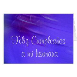 Feliz Cumpleaños un hermana del MI Tarjeta De Felicitación