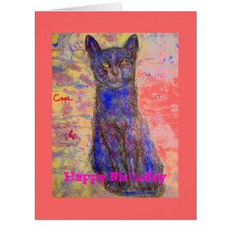 feliz cumpleaños usted es un gato fresco tarjeta de felicitación grande
