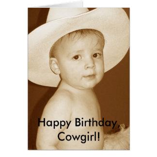 ¡Feliz cumpleaños, vaquera! Tarjeta De Felicitación