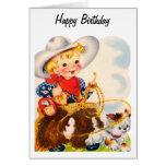 Feliz cumpleaños - vaquero joven tarjetón