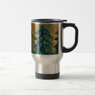 Feliz decoración del día de fiesta del árbol de na taza de café