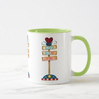 """Feliz del 4 taza de café de julio""""."""