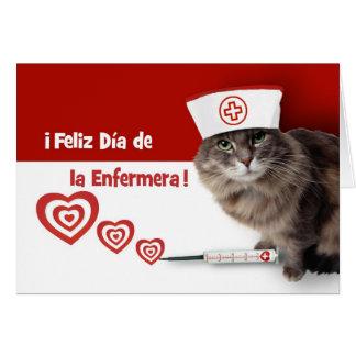Feliz Día de la Enfermera. Tarjeta española