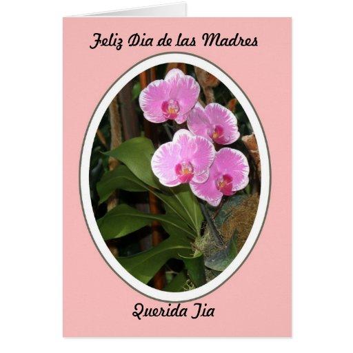 Feliz Dia de las Madres Querida Tia Tarjeta