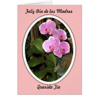 Feliz Dia de las Madres Querida Tia Tarjeta De Felicitación