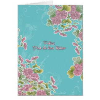 feliz dia de las mães, el día de madre portugués tarjeta de felicitación