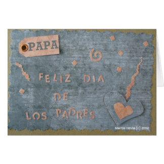 Feliz Dia de Los Padres - papá (personalice) Tarjetón