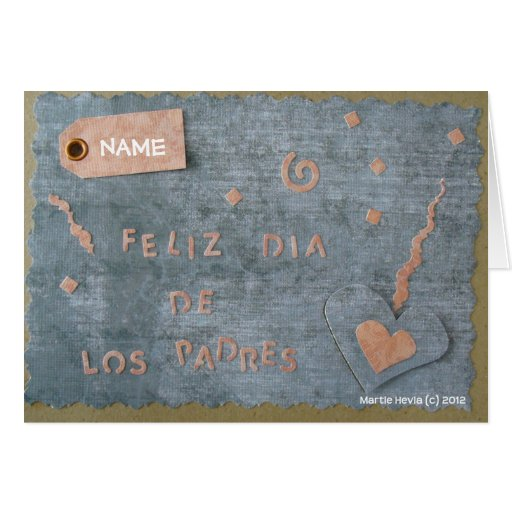 Feliz Dia de Los Padres (personalice) Tarjetas