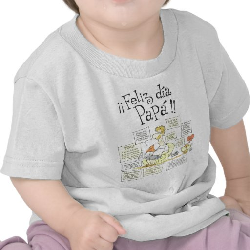 feliz-dia-del-padre001 t-shirts