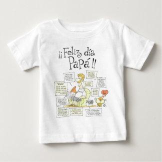 feliz-dia-del-padre001 camiseta de bebé