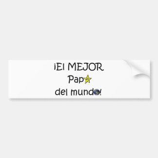 ¡¡Feliz día del padre - mejor del EL de los eres! Pegatina Para Coche