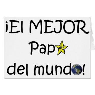 ¡¡Feliz día del padre - mejor del EL de los eres! Tarjetón