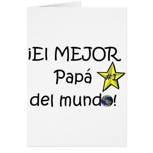¡¡Feliz día del padre - mejor del EL de los eres! Felicitacion
