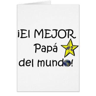 ¡¡Feliz día del padre - mejor del EL de los eres! Tarjeta De Felicitación