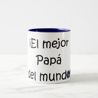 ¡¡Feliz día del padre - mejor del EL de los eres! Taza Dos Tonos