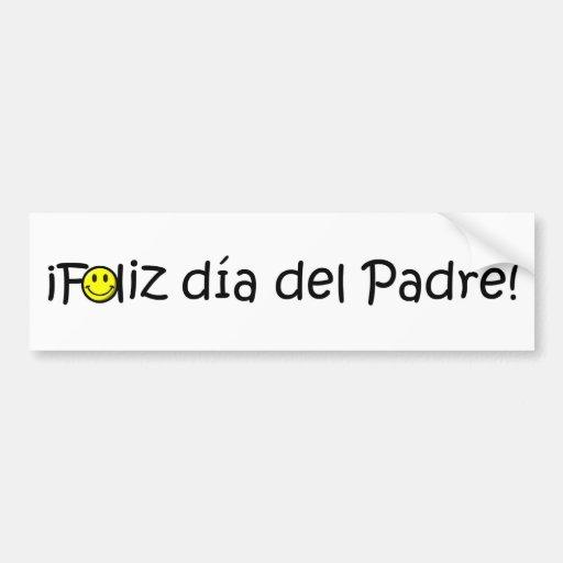 ¡¡Feliz día del padre - mejor del EL de para! Pegatina De Parachoque