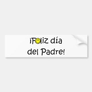 ¡¡Feliz día del padre - mejor del EL de para! Pegatina Para Coche