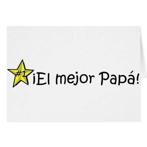 ¡¡Feliz día del padre - mejor del EL de para! Felicitación