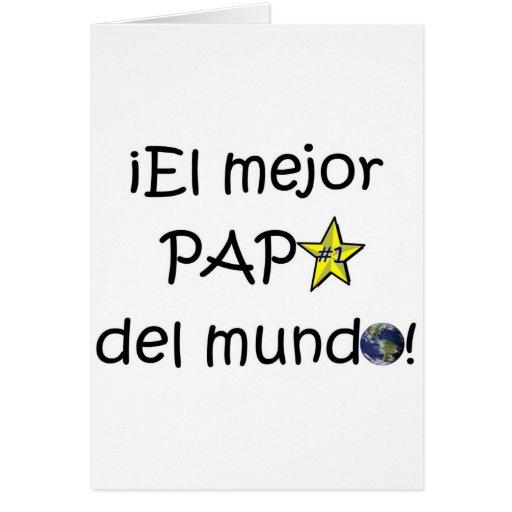 ¡¡Feliz día del padre - mejor del EL de para! Tarjeta
