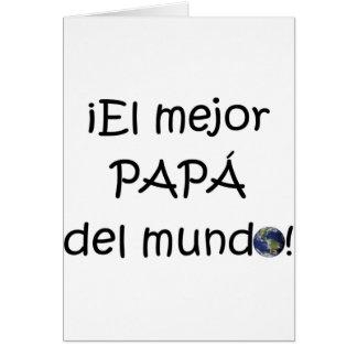 ¡¡Feliz día del padre - mejor del EL de para! Tarjeta De Felicitación