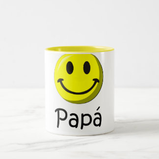 ¡¡Feliz día del padre - mejor del EL de para! Taza De Café De Dos Colores