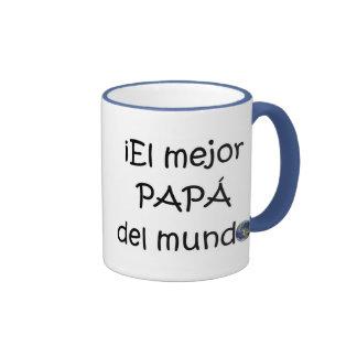 ¡¡Feliz día del padre - mejor del EL de para! Taza De Dos Colores