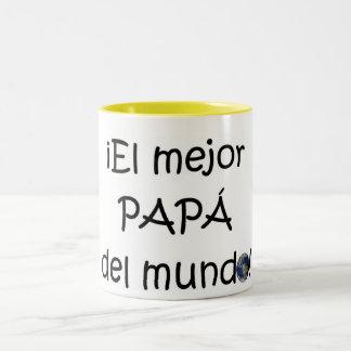 ¡¡Feliz día del padre - mejor del EL de para! Taza De Dos Tonos
