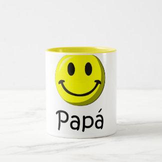 ¡¡Feliz día del padre - mejor del EL de para! Taza Dos Tonos