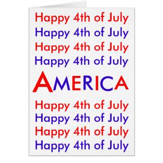 Feliz el 4 de julio América tarjeta de felicitac