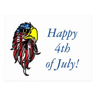 Feliz el 4 de julio American Eagle Postal